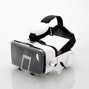 エレコム VRグラス ヘッドホン一体型タイプ(ホワイト)